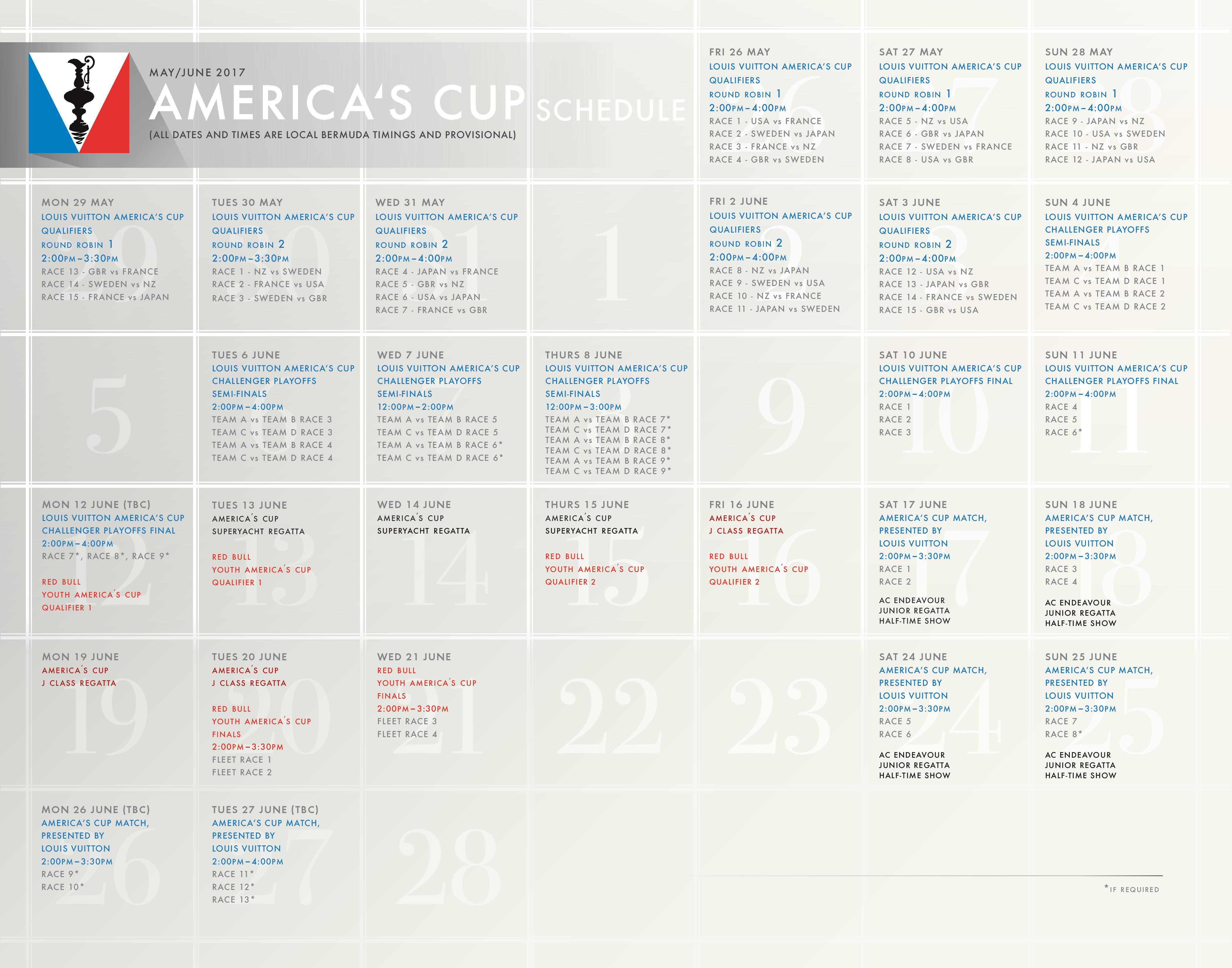m2287 2017 louis vuitton america s cup schedule